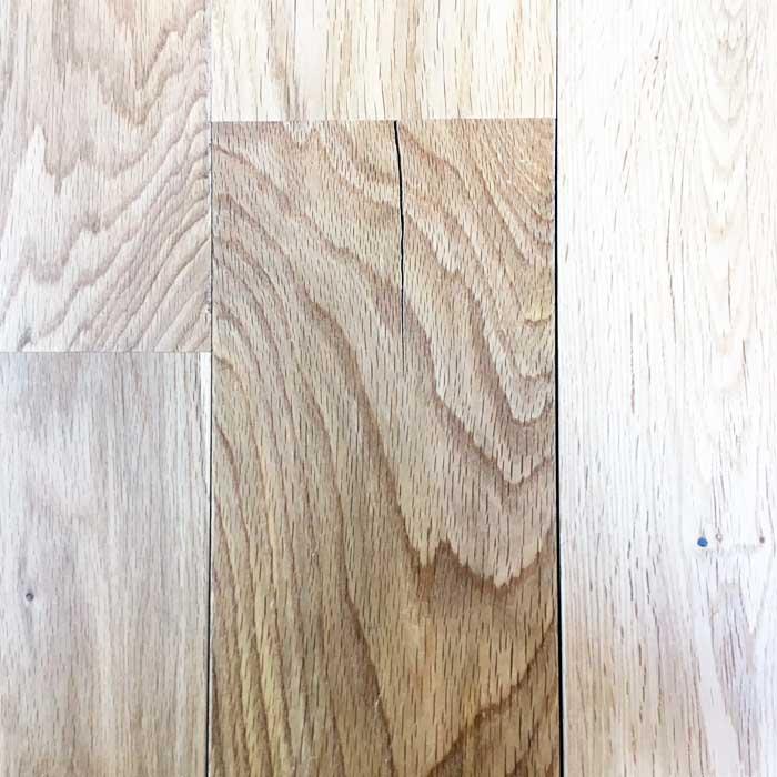 無垢床のひび割れ