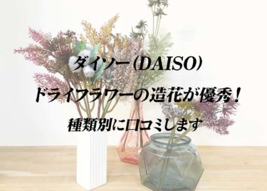 ダイソー(DAISO)ドライフラワーの造花が優秀! 種類別に口コミします