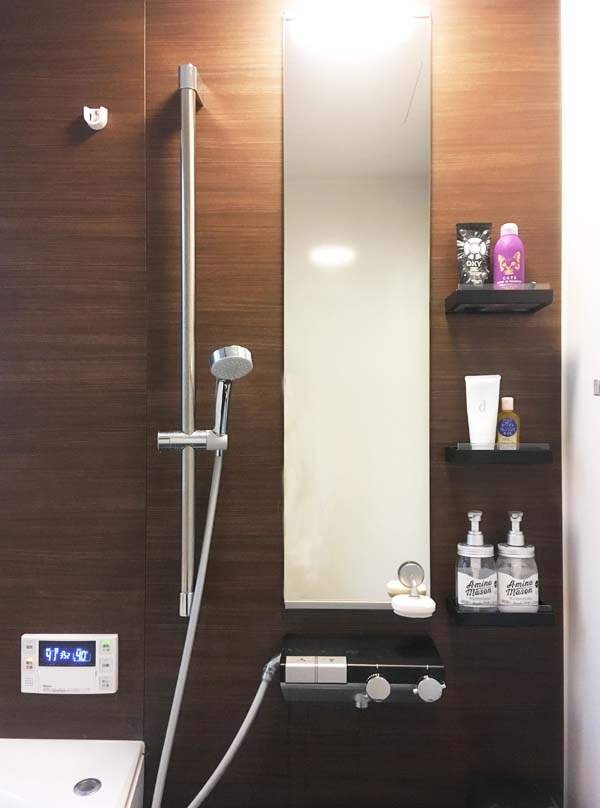 TOTOサザナの鏡と収納棚