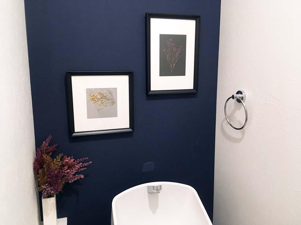トイレに飾ったイケアのフレーム